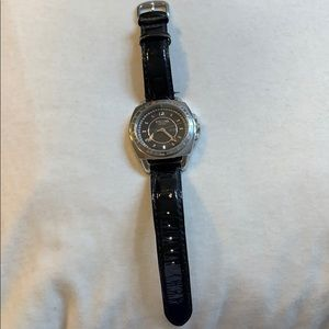 Used Coach Black Leather & Stainless Steel Watch